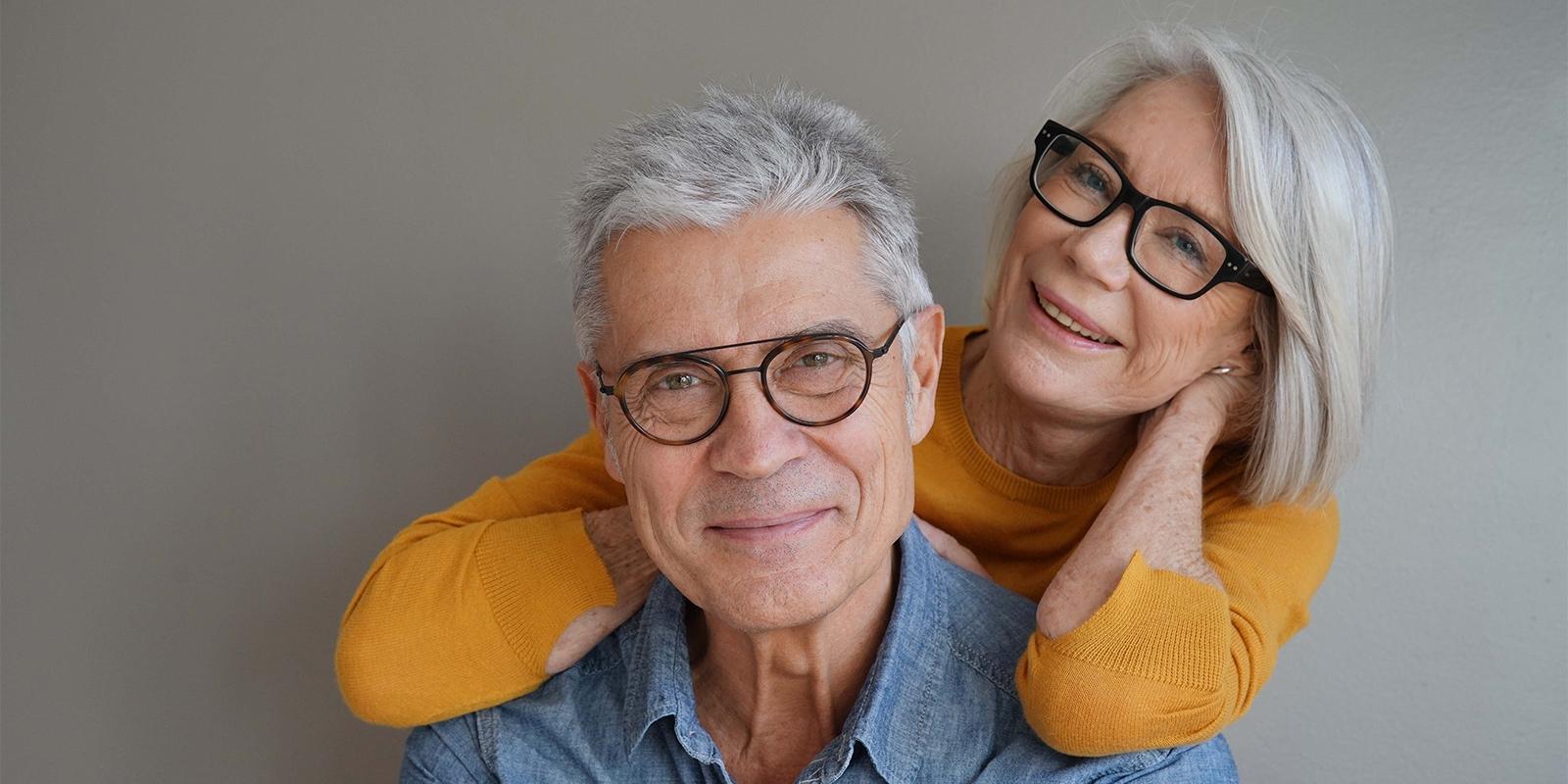 elderly couple portrait picture